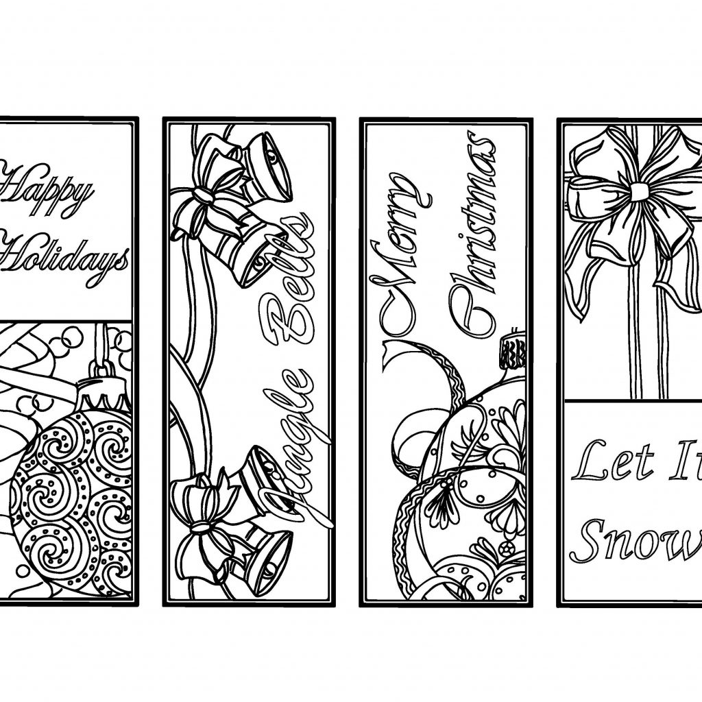 Christmas Coloring Bookmarks With DIY Holiday Crafts Color Your Own Etsy