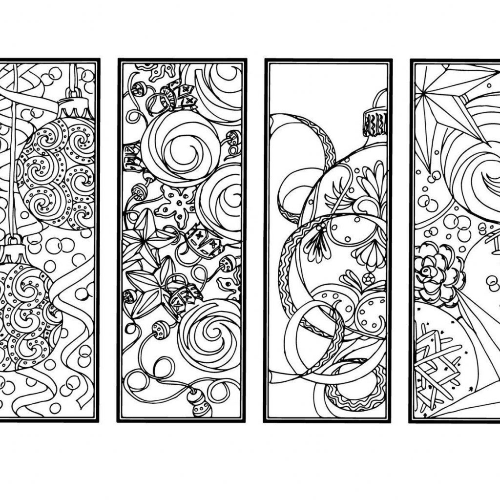 Christmas Coloring Bookmarks With DIY Ornament Holiday Crafts Color Your Own