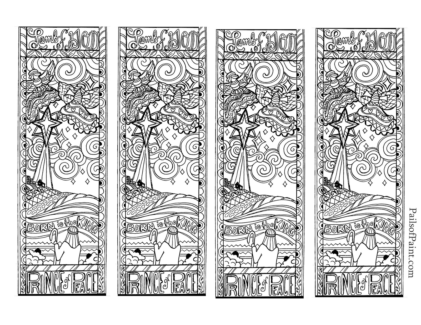 Christmas Coloring Bookmarks With Free Printable To Color For Pages