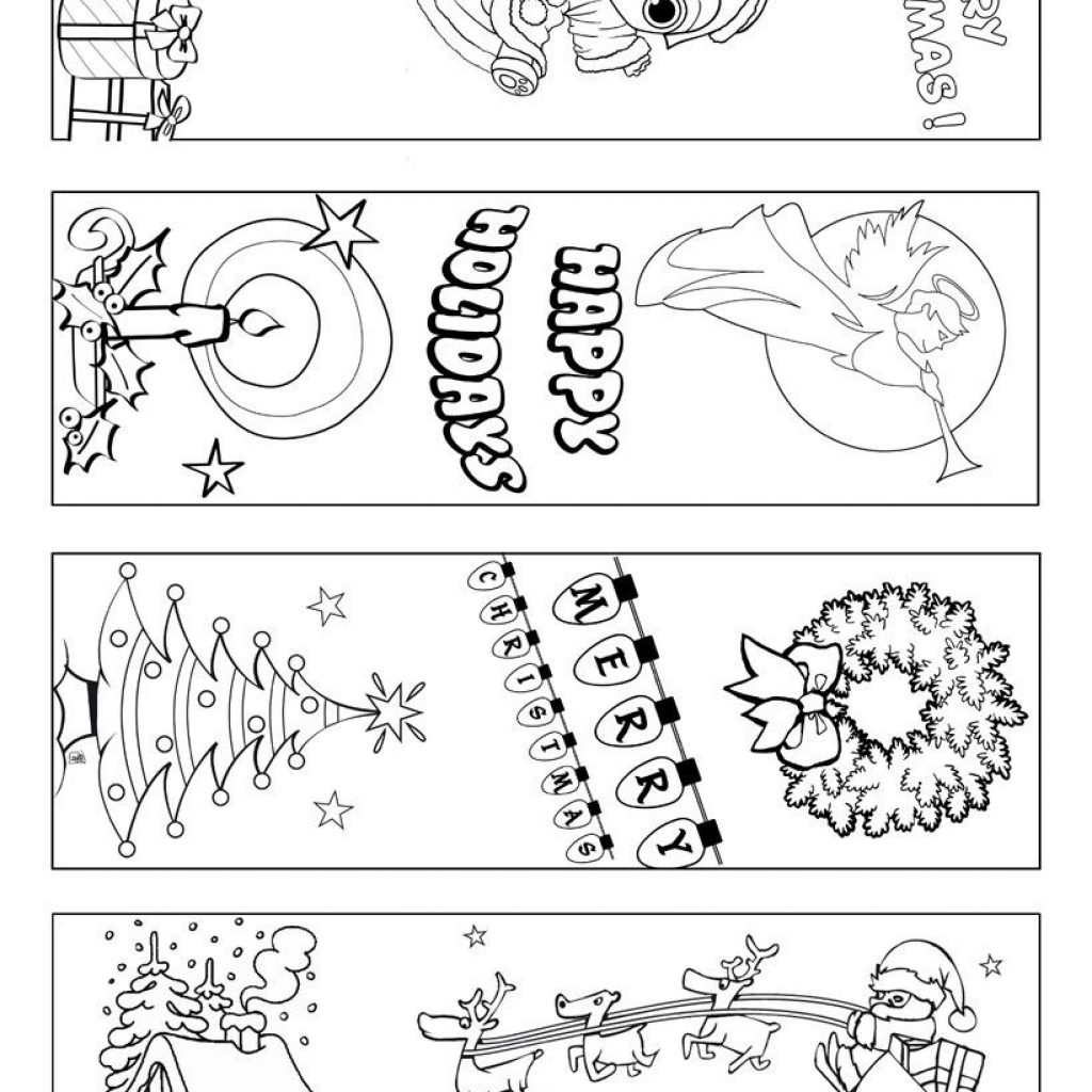 Christmas Coloring Bookmarks With Printable To Color Make This Free Black And
