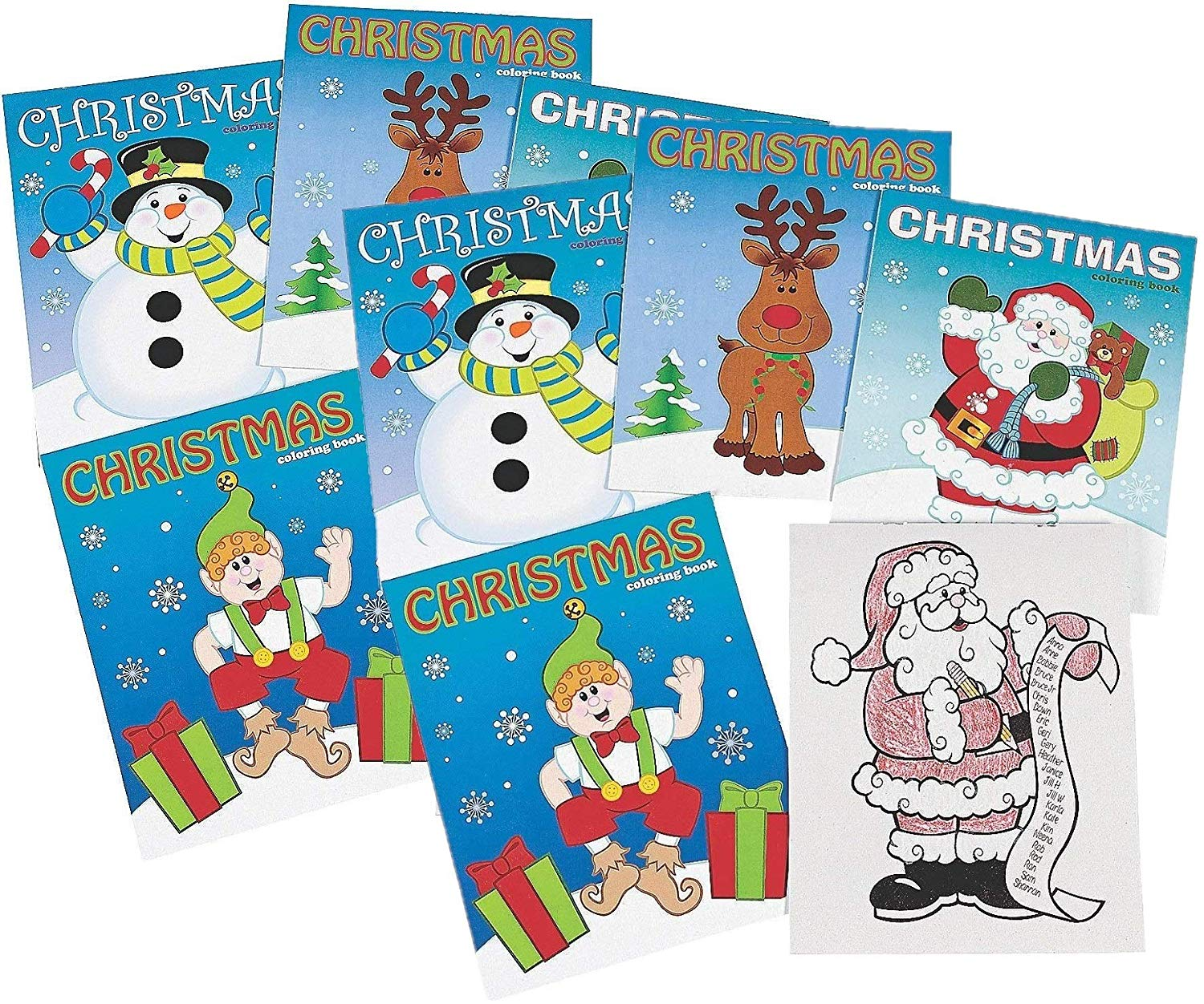 Christmas Coloring Books Wholesale With Amazon Com Fun Express Party Favor 12