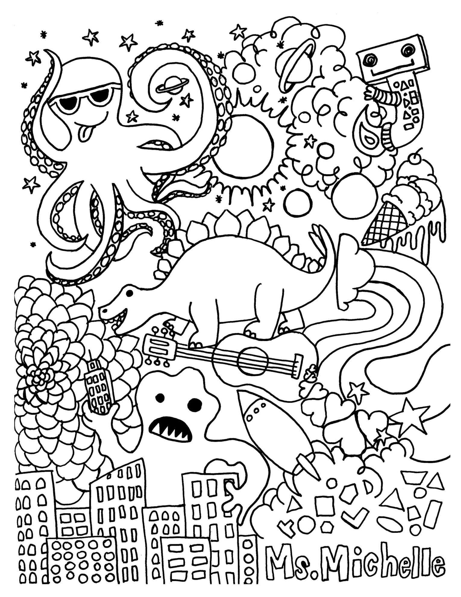 Christmas Coloring Borders Pages With For Highschool Students Printable