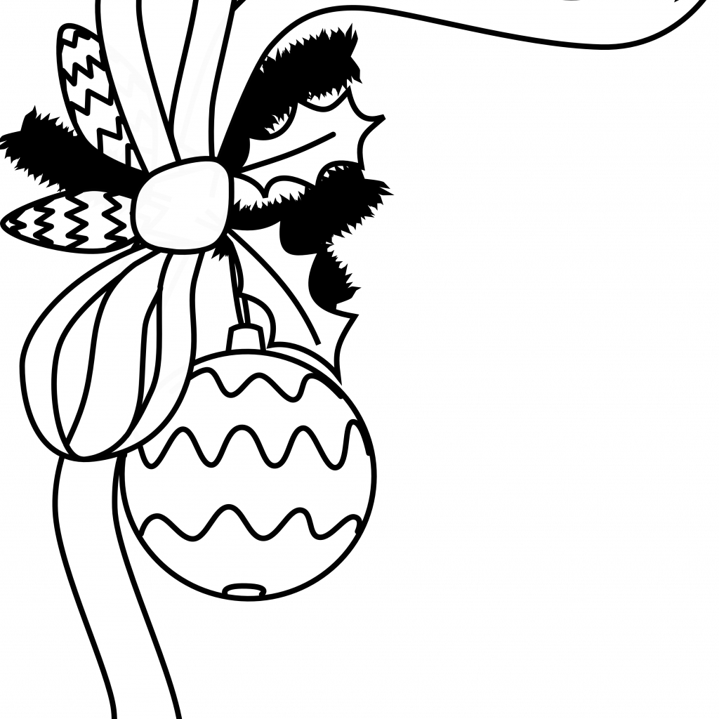 Christmas Coloring Borders Pages With Free Black And White Images Download Clip Art