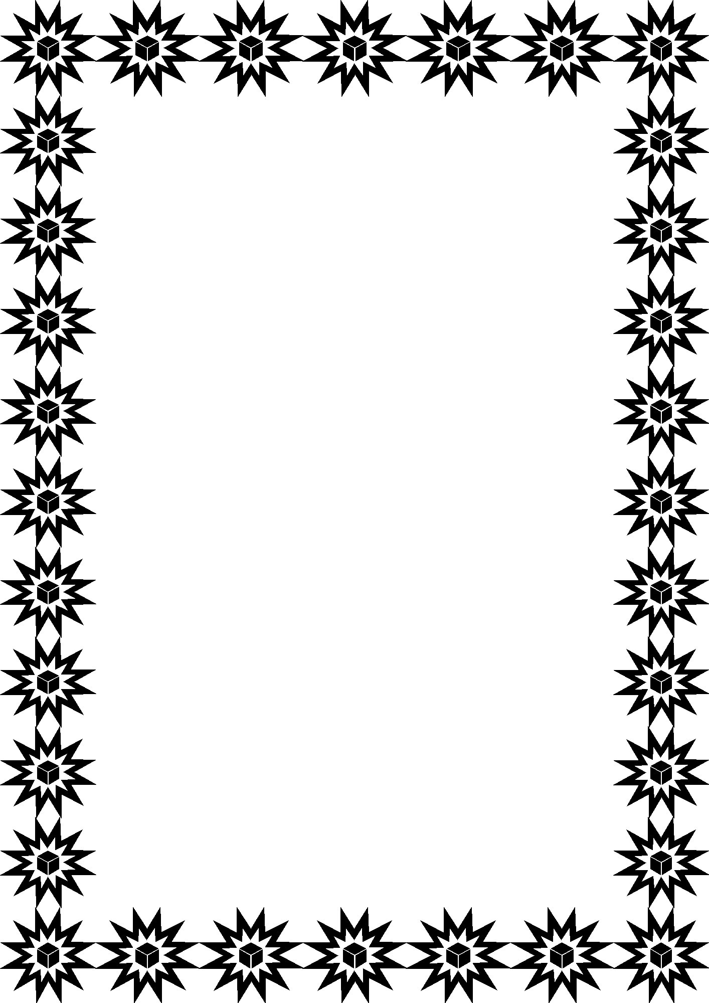 Christmas Coloring Borders With Clip Art Z31 Page