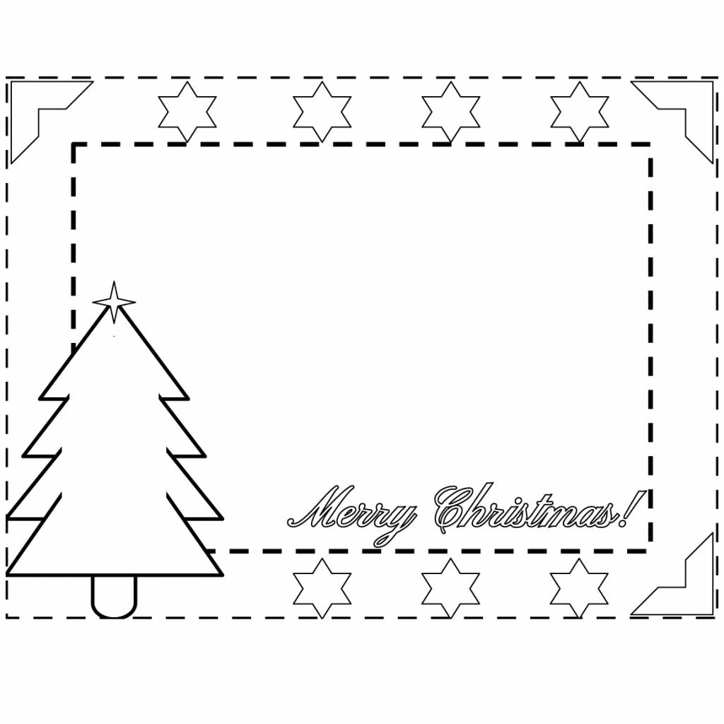 Christmas Coloring Borders With Merry Border Page Free Printable Pages