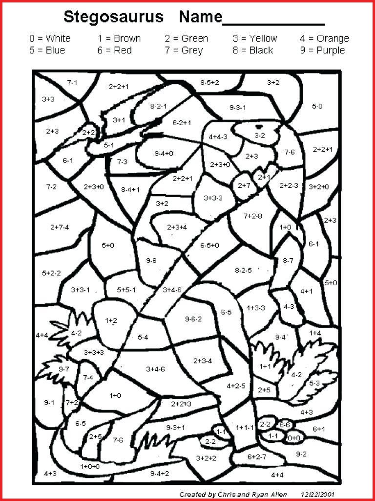 Christmas Coloring By Number With Color 128467 Subtraction Worksheets
