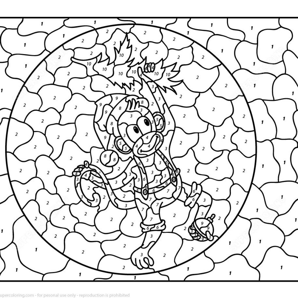Christmas Coloring By Number With Color Numbers Ironenclave Com