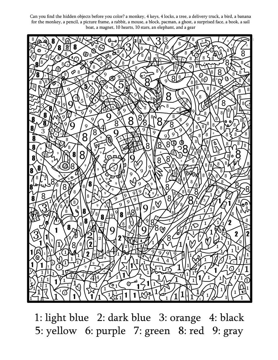 Christmas Coloring By Numbers Printable With Color Number Pages Educaci N Pinterest