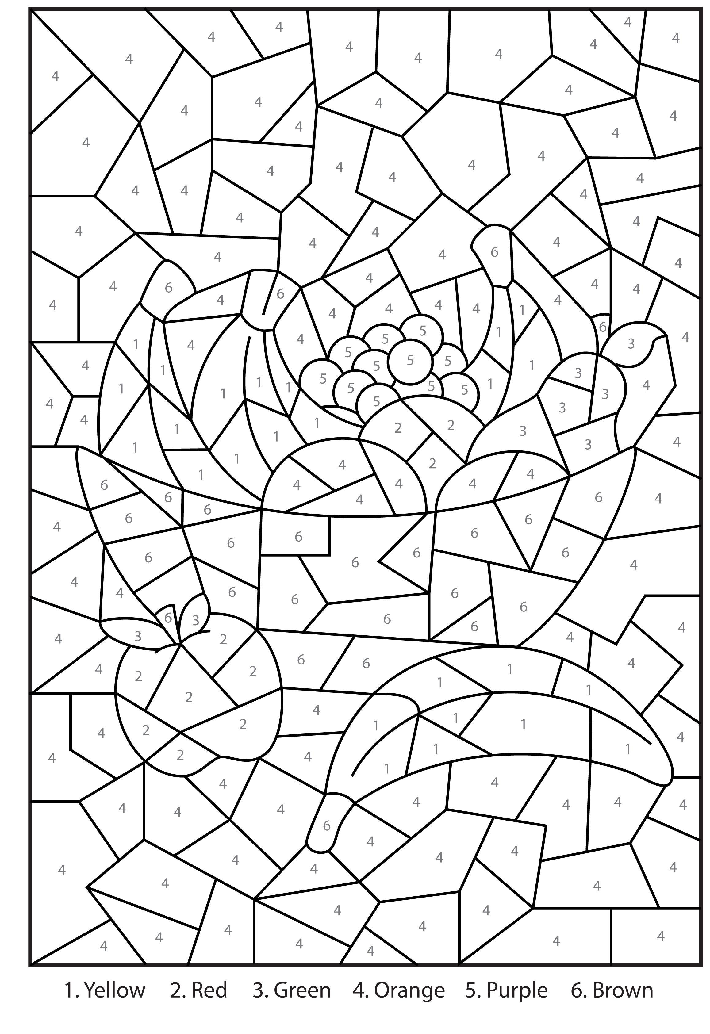 Christmas Coloring By Numbers Printable With Free Bowl Of Fruit Colour Activity For Kids