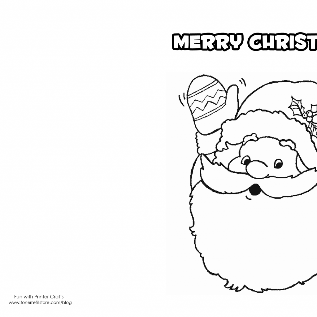 Christmas Coloring Card Printable With Cards For Kids Pinterest