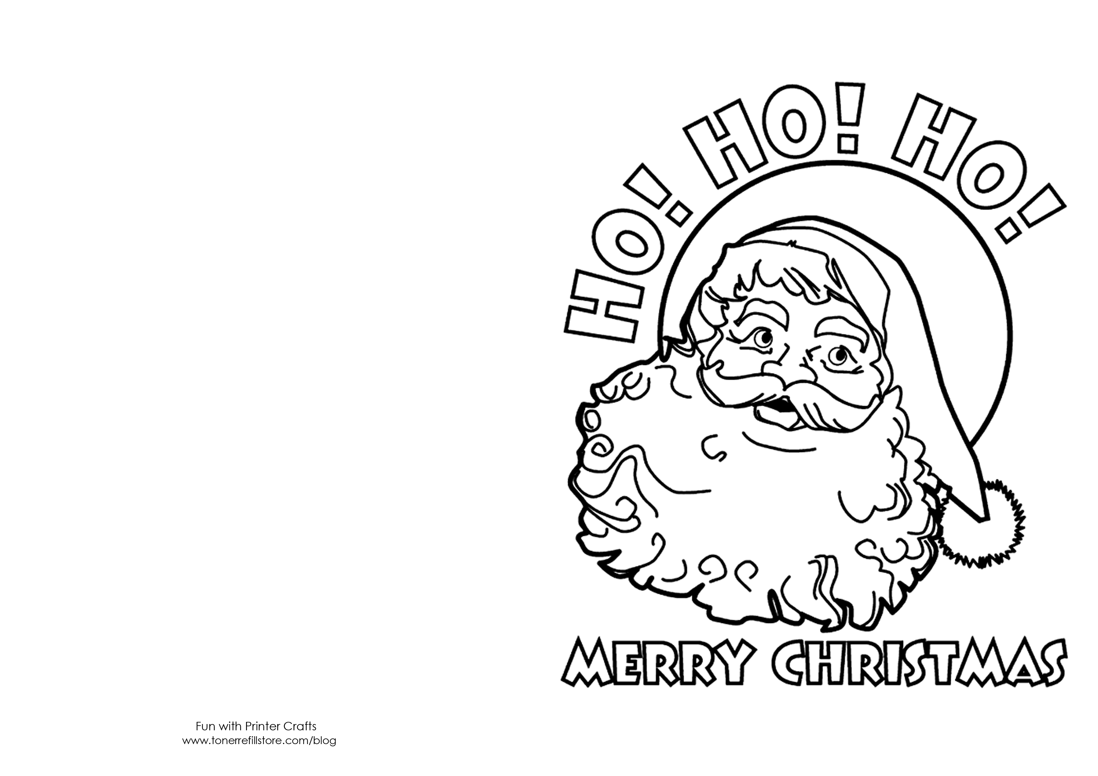 Christmas Coloring Card Printable With Cards Kids Crafts Pinterest