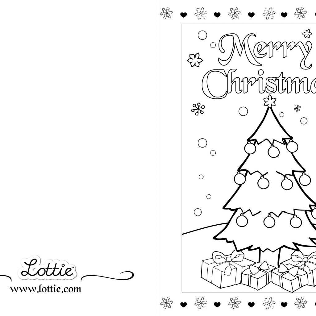 Christmas Coloring Card With Colouring 2 Lottie IT