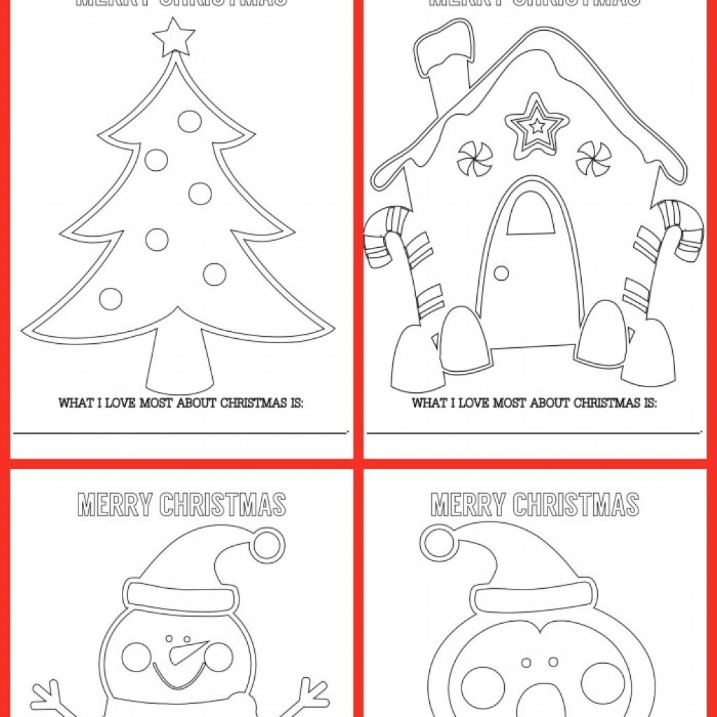 Christmas Coloring Cards Pdf With FREE Sheets Lil Luna