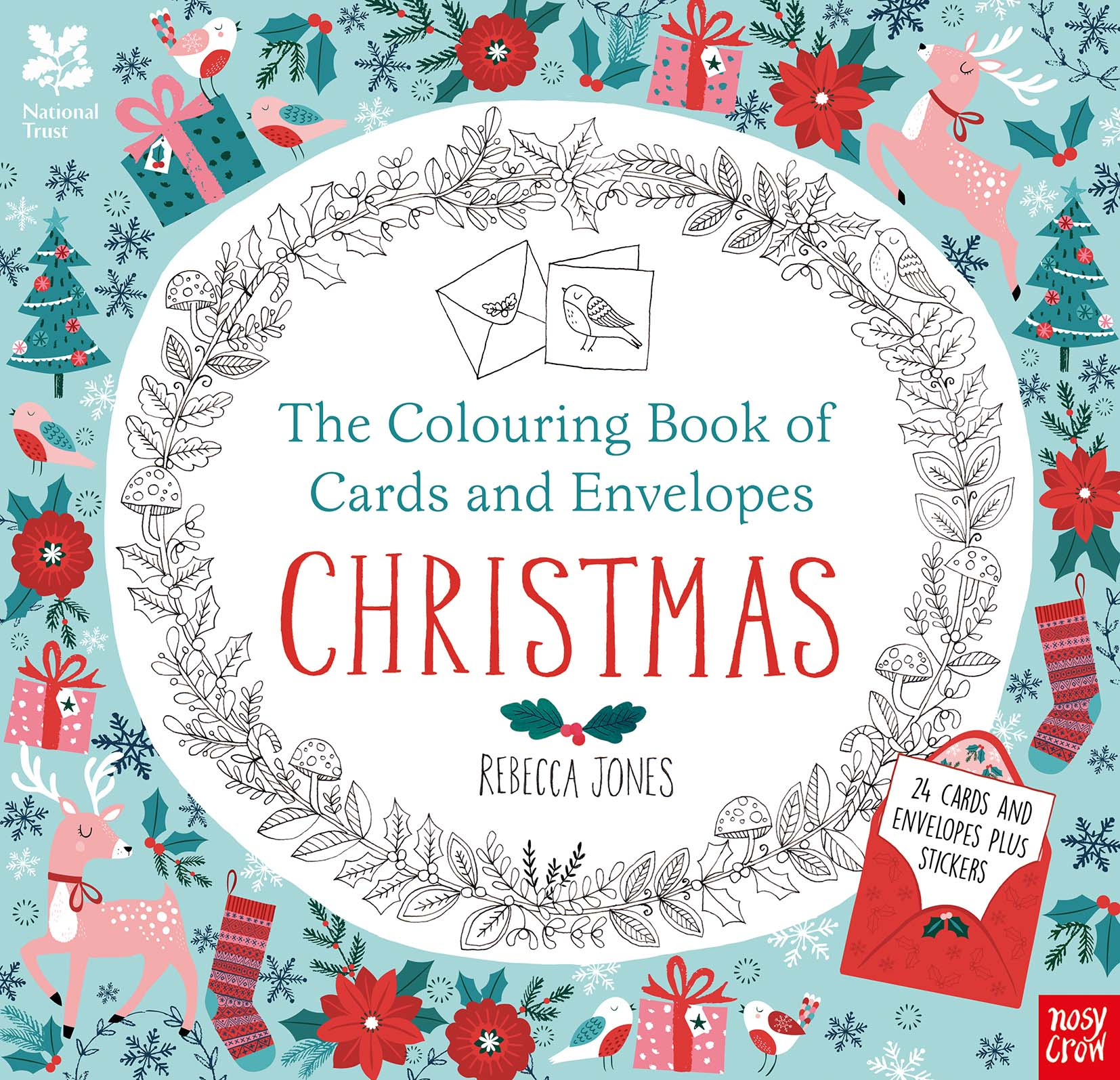 Christmas Coloring Cards Pdf With National Trust The Colouring Book Of And Envelopes