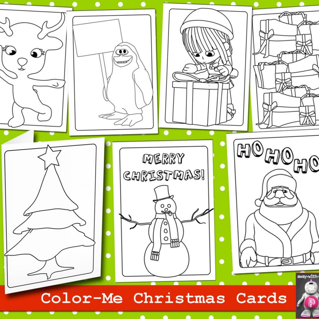 Christmas Coloring Cards Pdf With Pin By Kate Pullen On Adult Page And Digistamp Pinterest