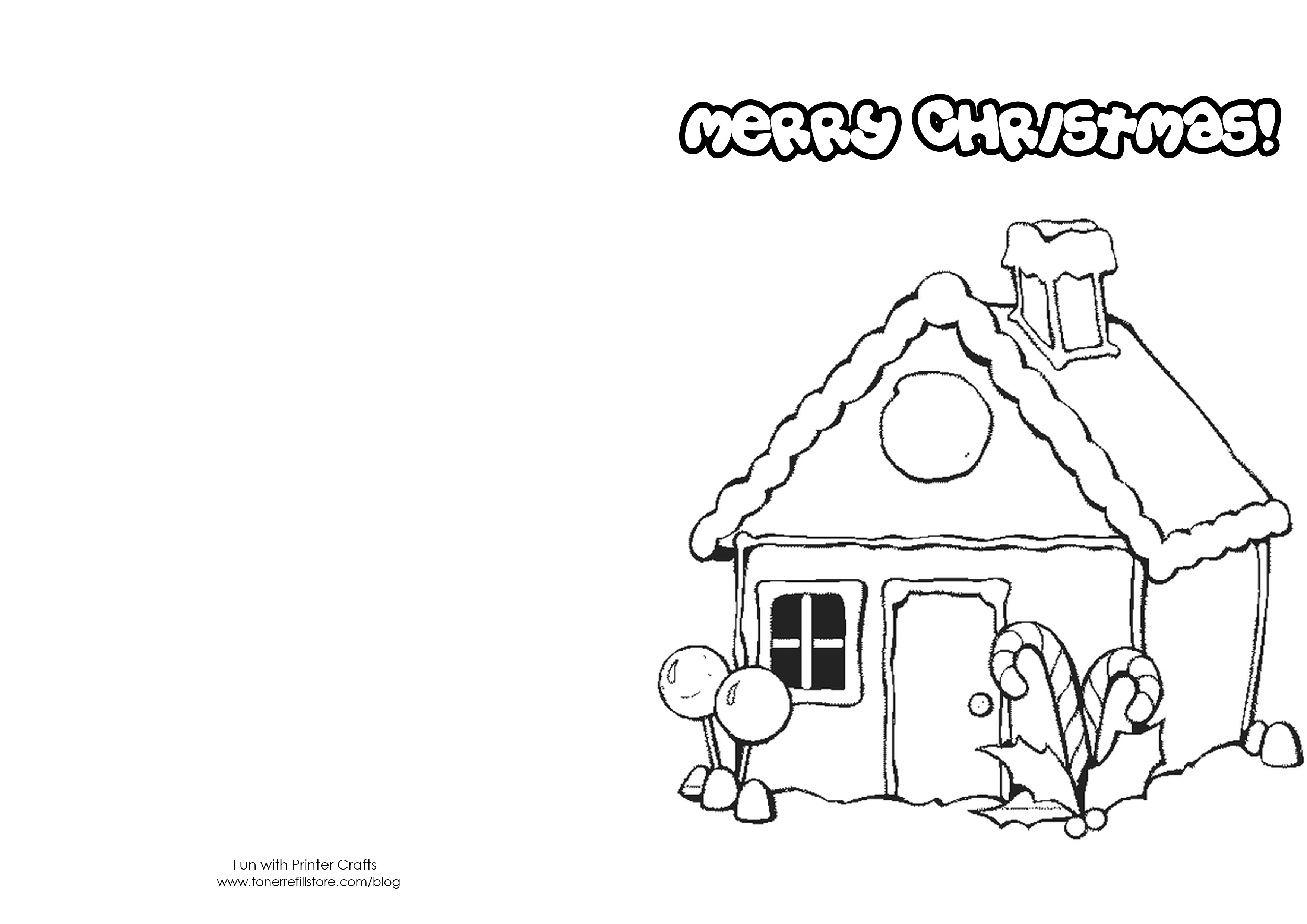 Christmas Coloring Cards Printable Free With Pages