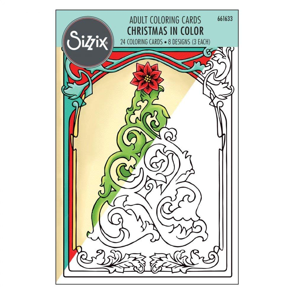 Christmas Coloring Cards With Amazon Com Sizzix 661633 By Jen Long