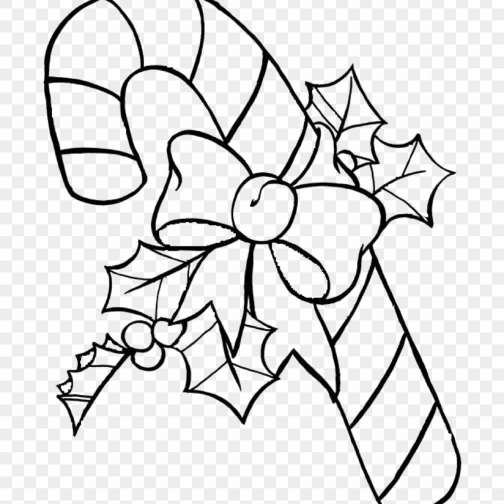 Christmas Coloring Clip Art With Candy Cane Pages