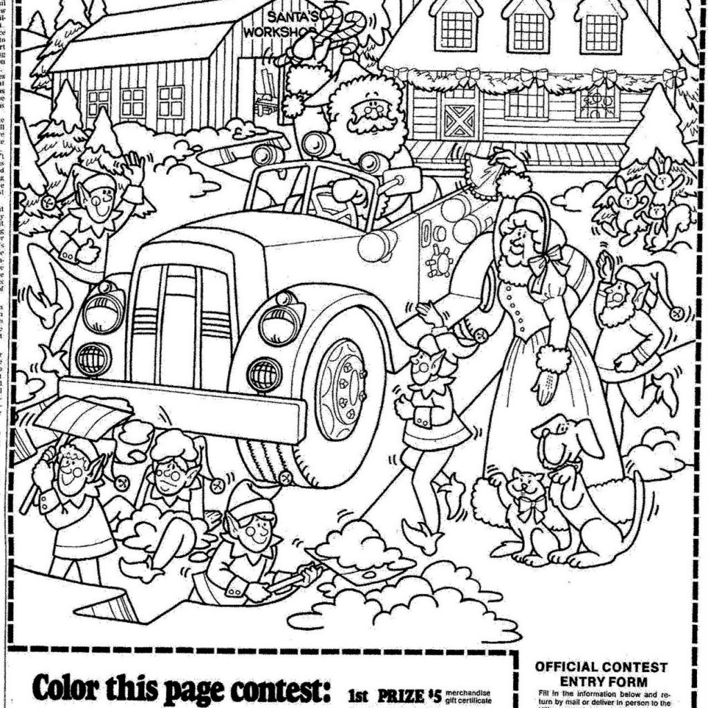 Christmas Coloring Contest Pages With Elegant