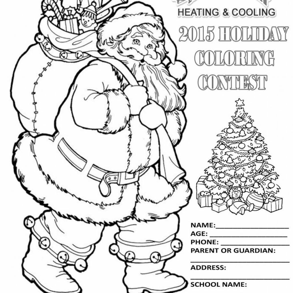 Christmas Coloring Contest With 2015 CHRISTMAS COLORING CONTEST A C Installation Repair