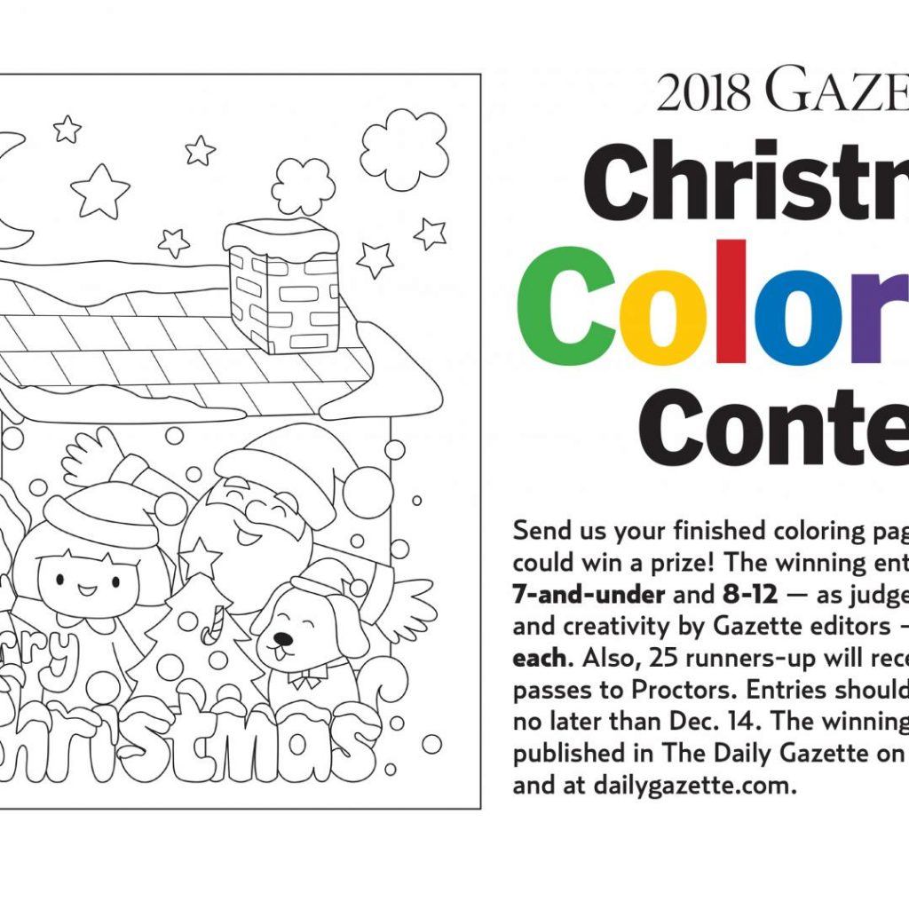 Christmas Coloring Contest With Gazette Under Way The Daily