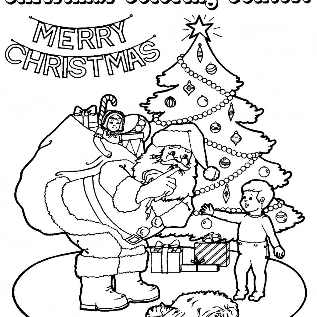 Christmas Coloring Contest With Mostly Paper Dolls Too