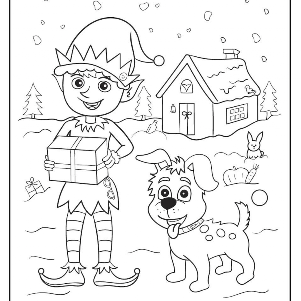 Christmas Coloring Crafts Printables With Pages Pinterest
