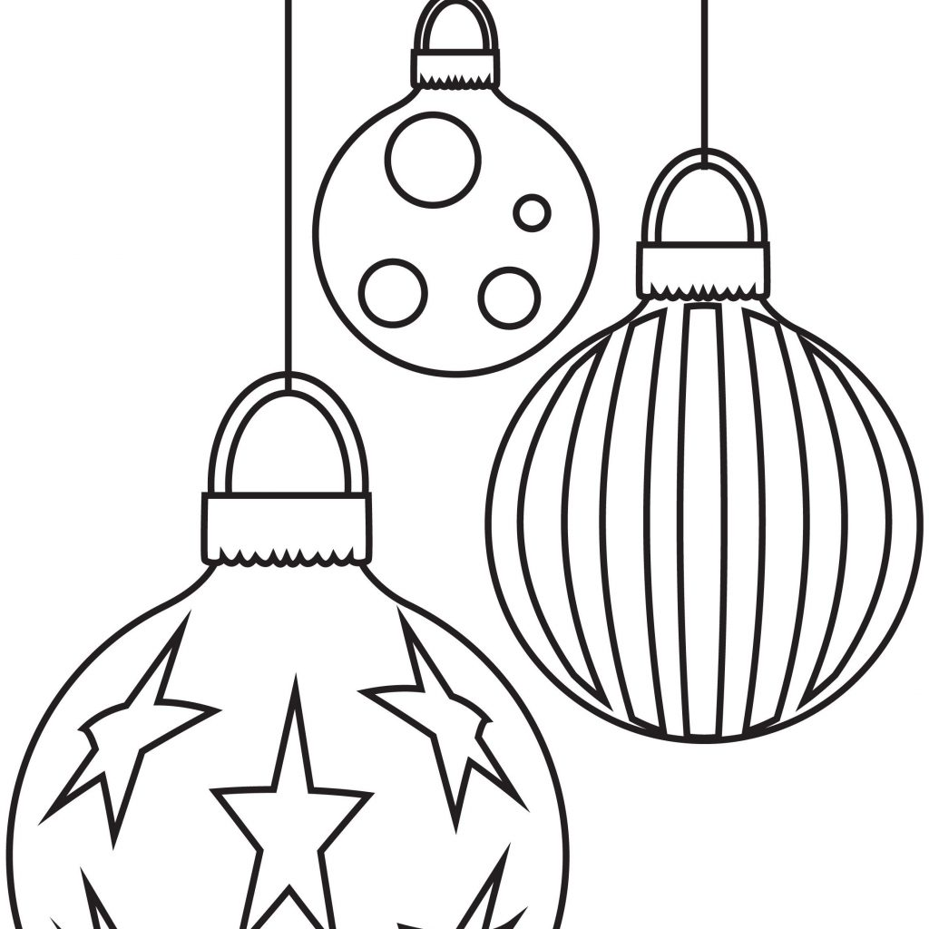 Christmas Coloring Decorations With Baubles Free Pages From Pinterest