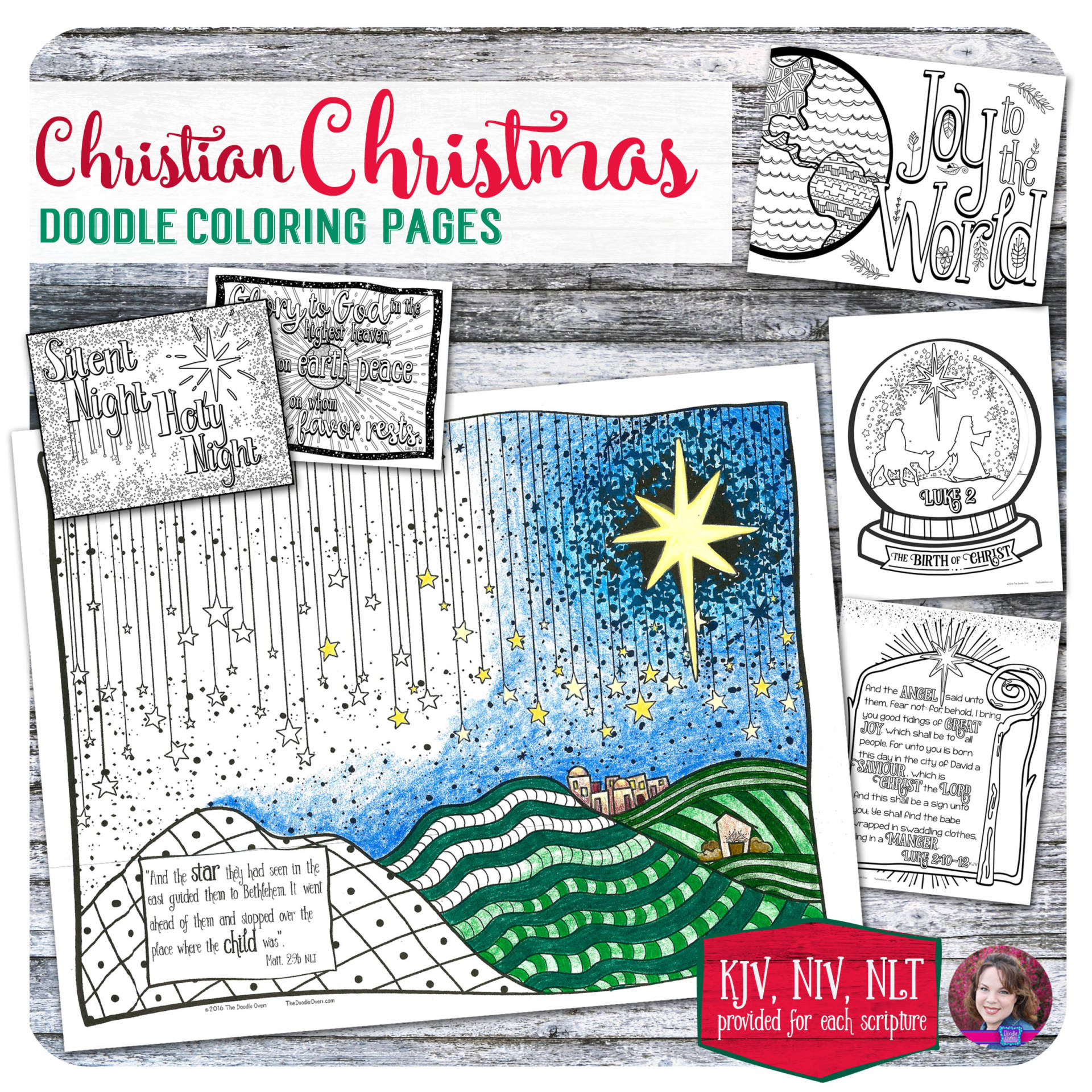 Christmas Coloring Designs With Christian Doodle Pages 6 Heidi Babin