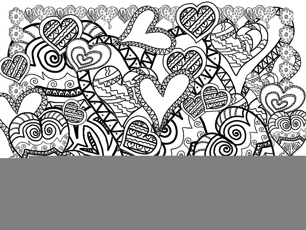 Christmas Coloring Designs With Pages Printable Heart Adults Canvas