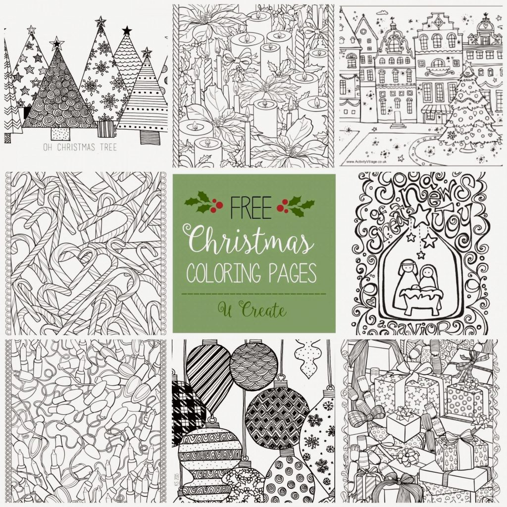 Christmas Coloring Designs With Printable Pages Goat COLORING PAGE