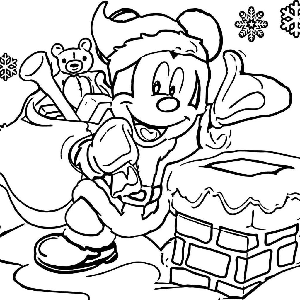 Christmas Coloring Disney With Color Pages Printable