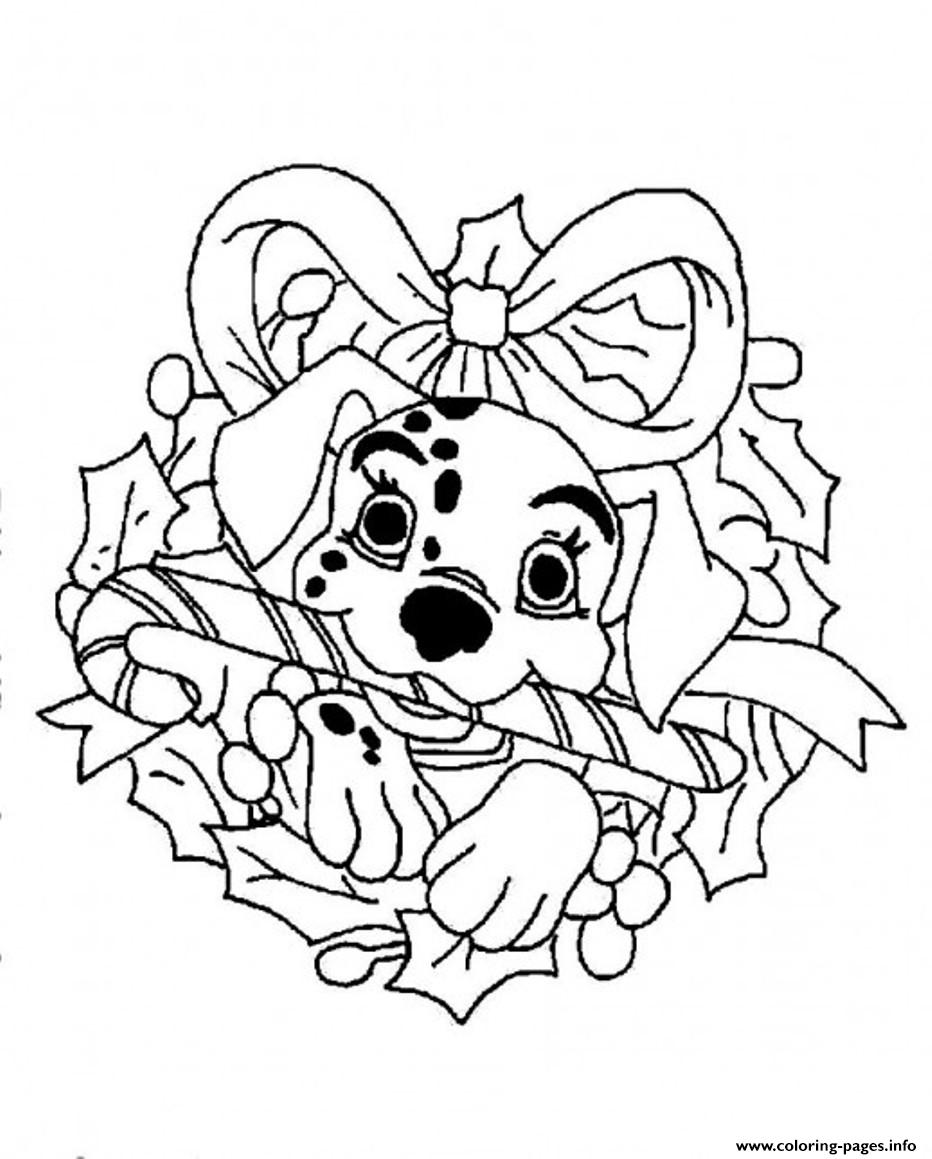 Christmas Coloring Disney With Dalmation For Pagebd67 Pages