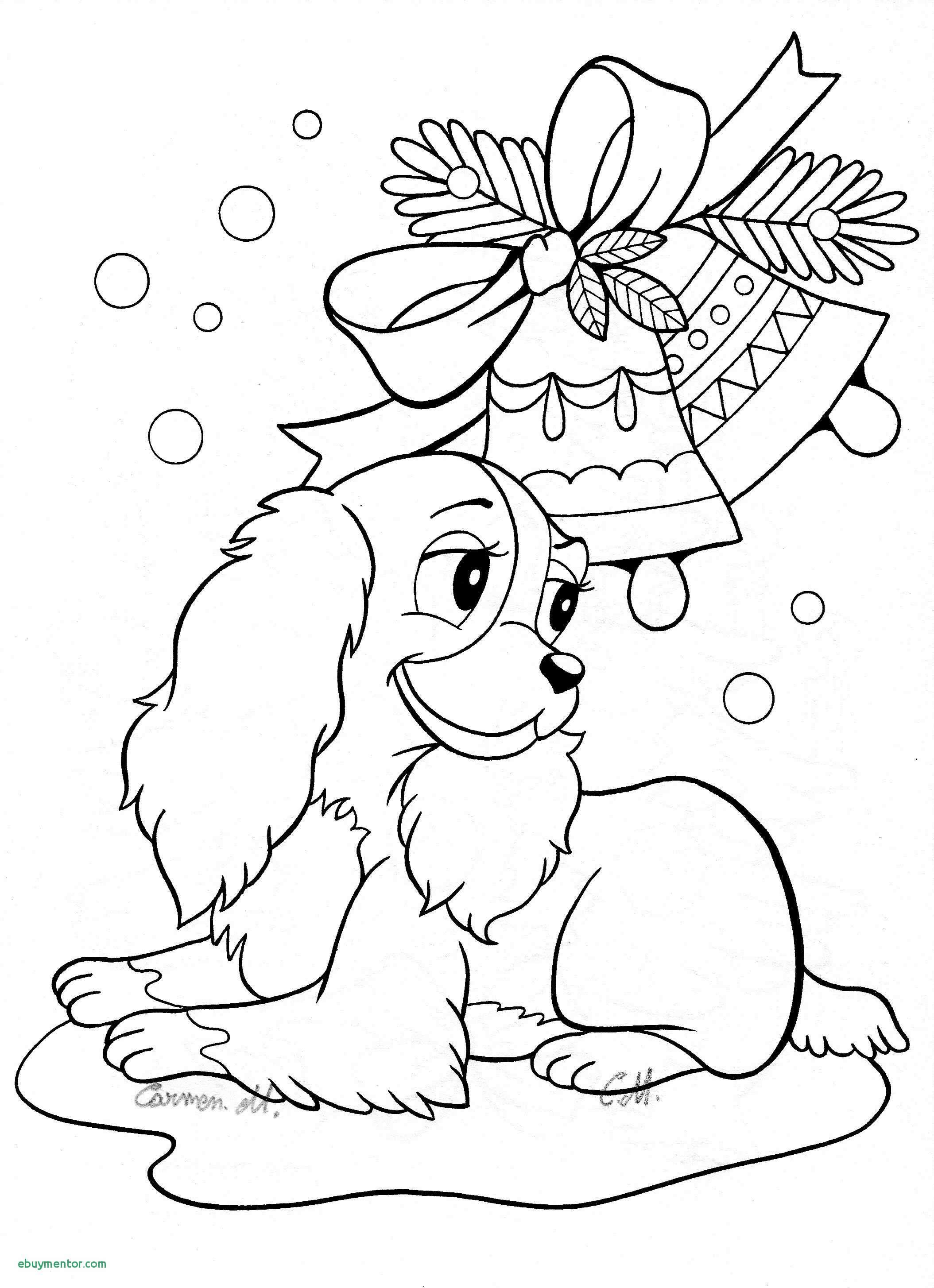 Christmas Coloring Dog With And Puppy Pages