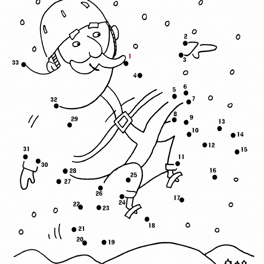 Christmas Coloring Dot To With Awesome Gallery Collections