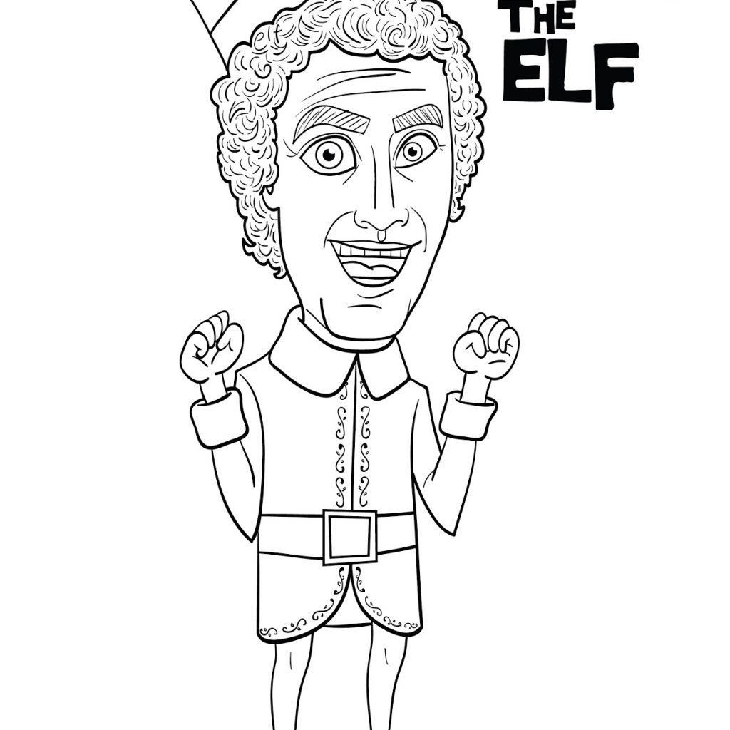 Christmas Coloring Elf Pages With Printable Free Books