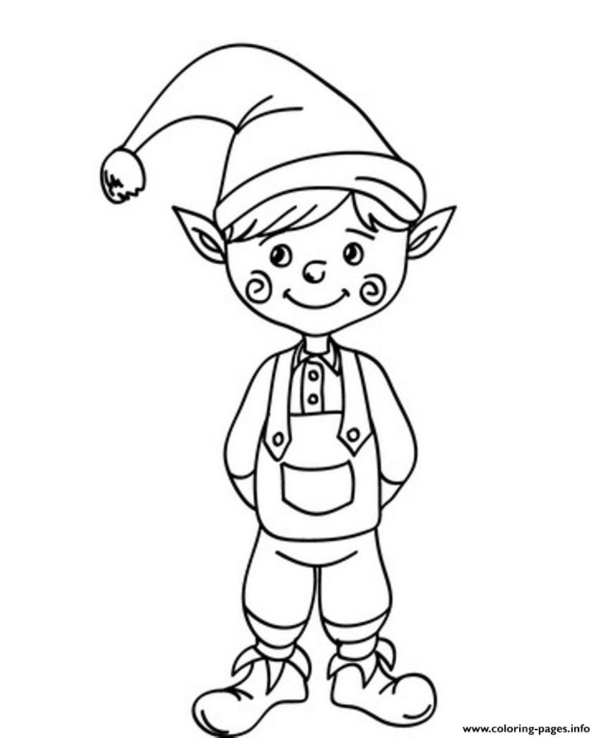 Christmas Coloring Elf With Cute Saaf5 Pages Printable