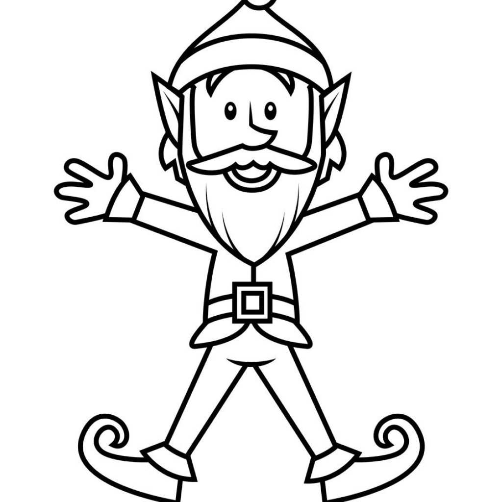 Christmas Coloring Elf With Pin By On Pinterest