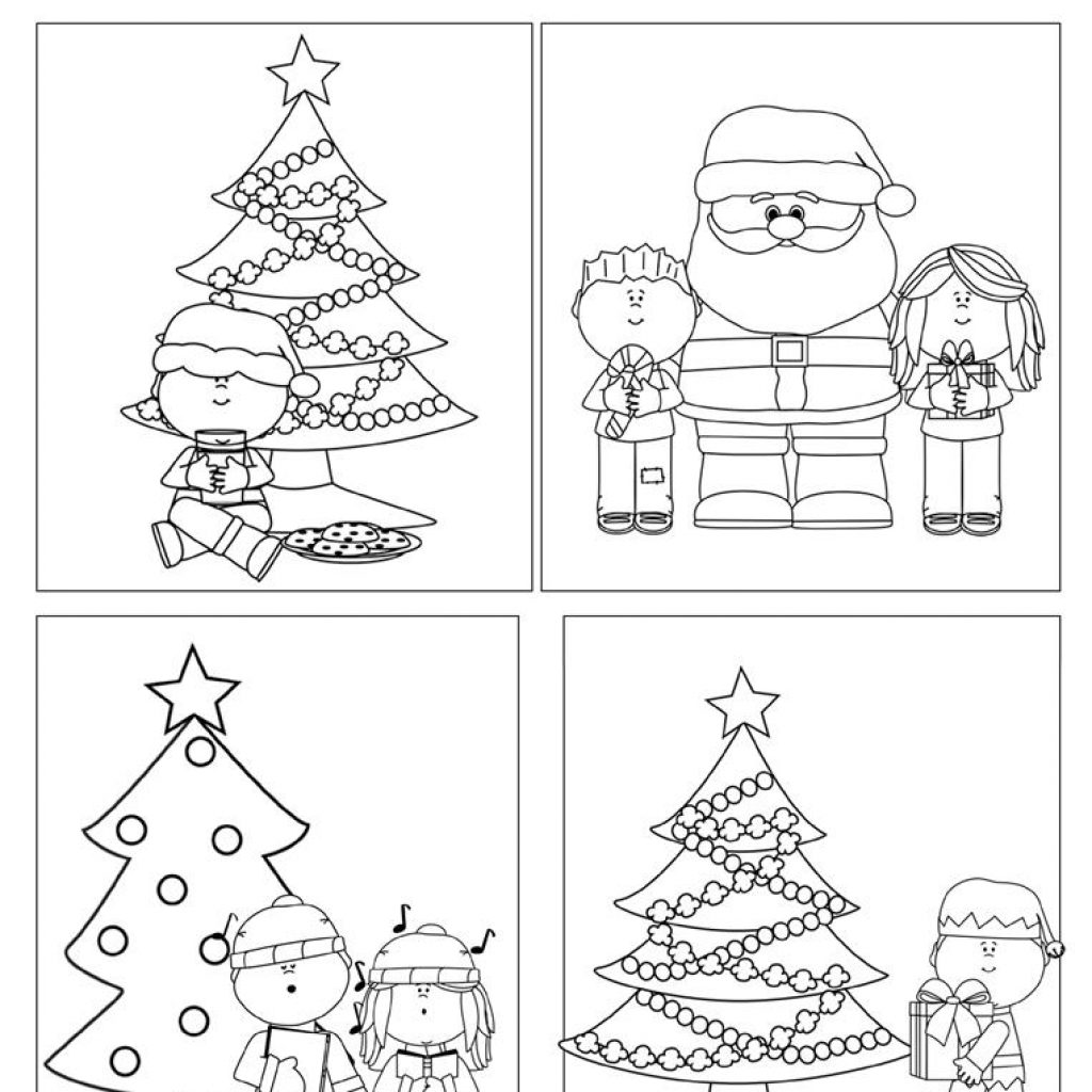 Christmas Coloring Esl With Color Your Own Cards Worksheet Free ESL Printable