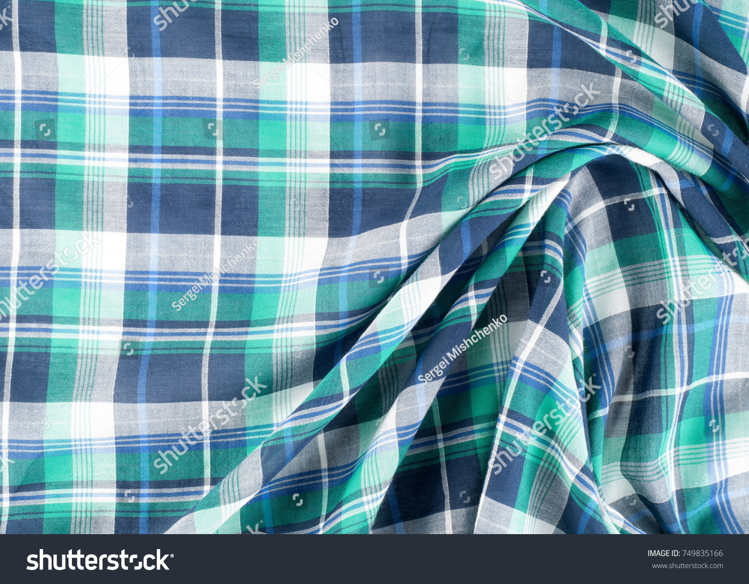 Christmas Coloring Fabric With Box Tartan Cloth Plaid Stock Photo Edit Now