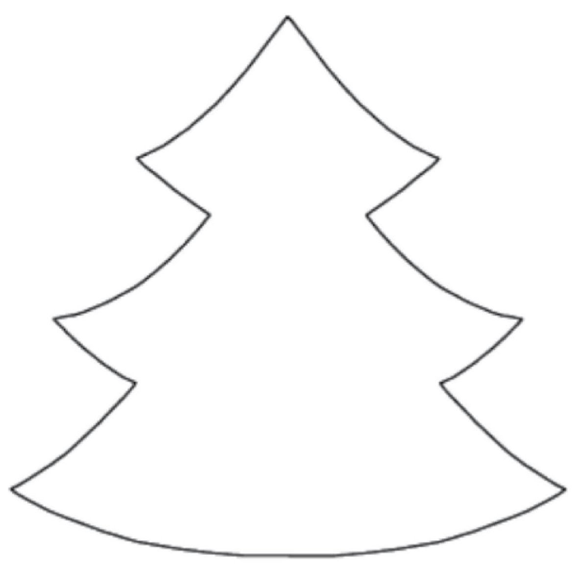 Christmas Coloring Fabric With Tree Cut Out Template On And The In