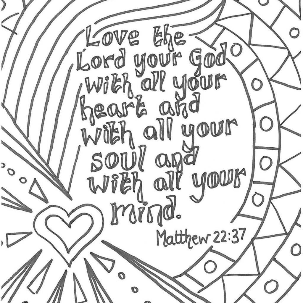 Christmas Coloring For Older Students With Pin By S Black On Color The Word Pinterest Pages Bible