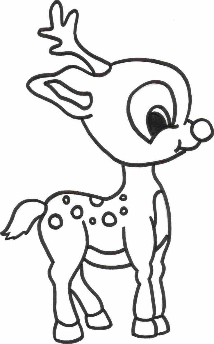 Christmas Coloring For Toddlers With Free Printable Reindeer Pages Kids Sketch Pinterest