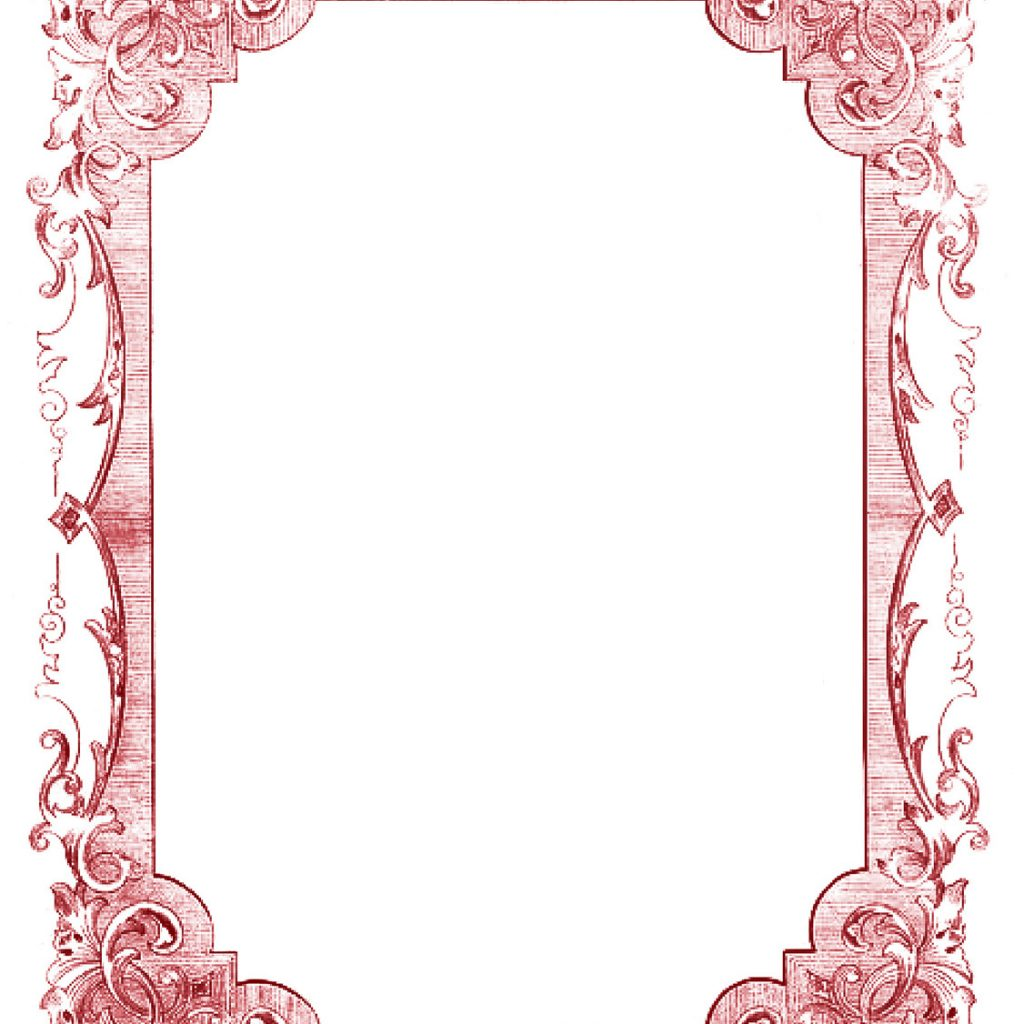 Christmas Coloring Frames With Vintage Clip Art Romantic Colors The Graphics
