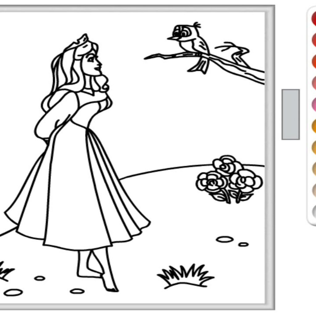 Christmas Coloring Games Online With Free Disney Princess Pages