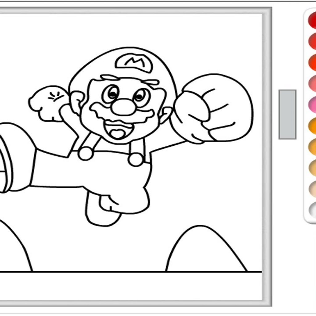 Christmas Coloring Games To Play Online With Super Mario Pages Game Color For