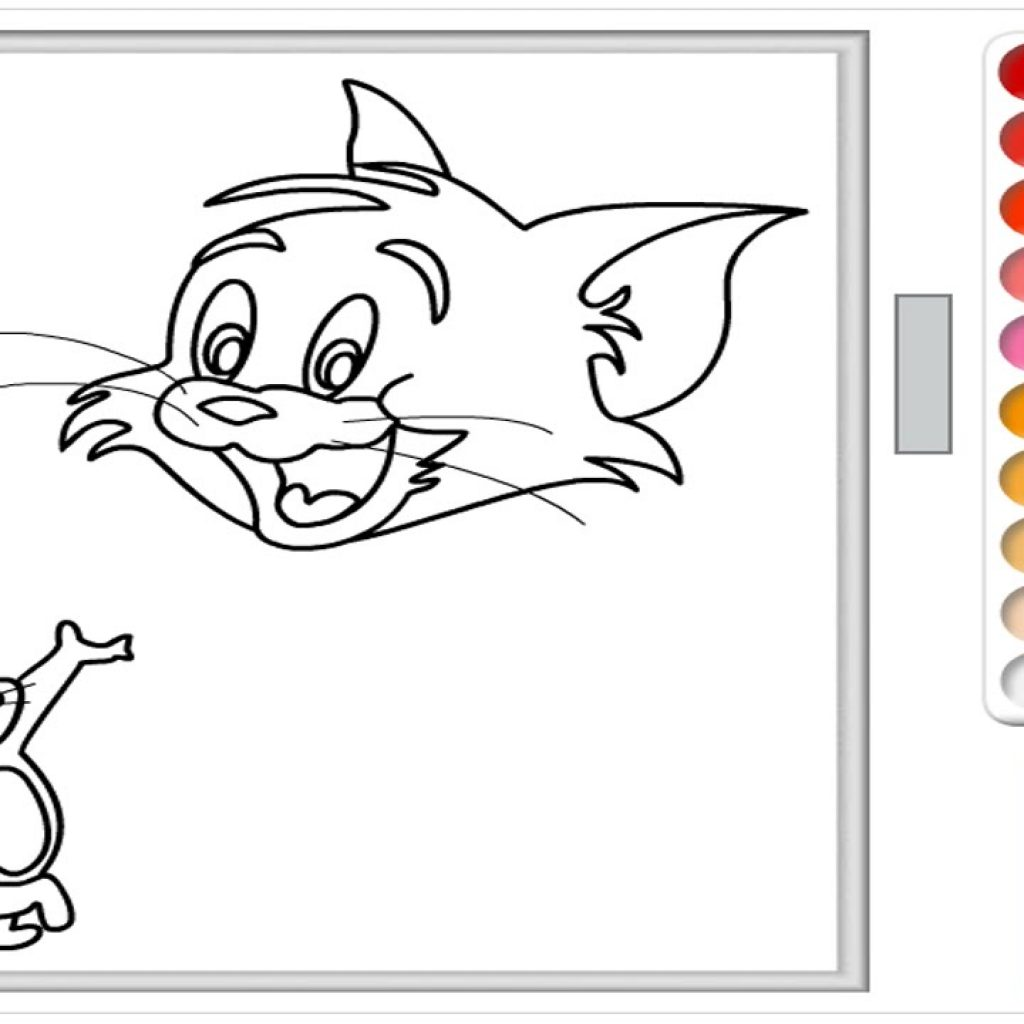 Christmas Coloring Games To Play Online With Tom And Jerry Page For Kids