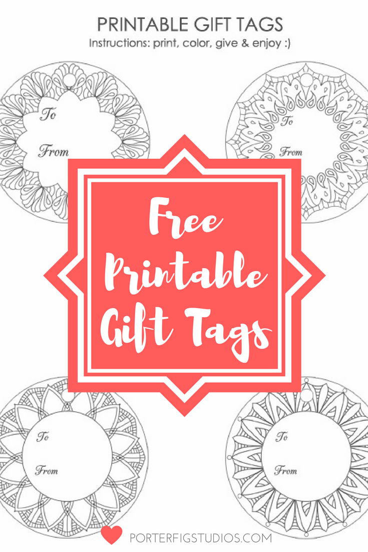 Christmas Coloring Gift Tags With Free Printable Holiday Page Porter
