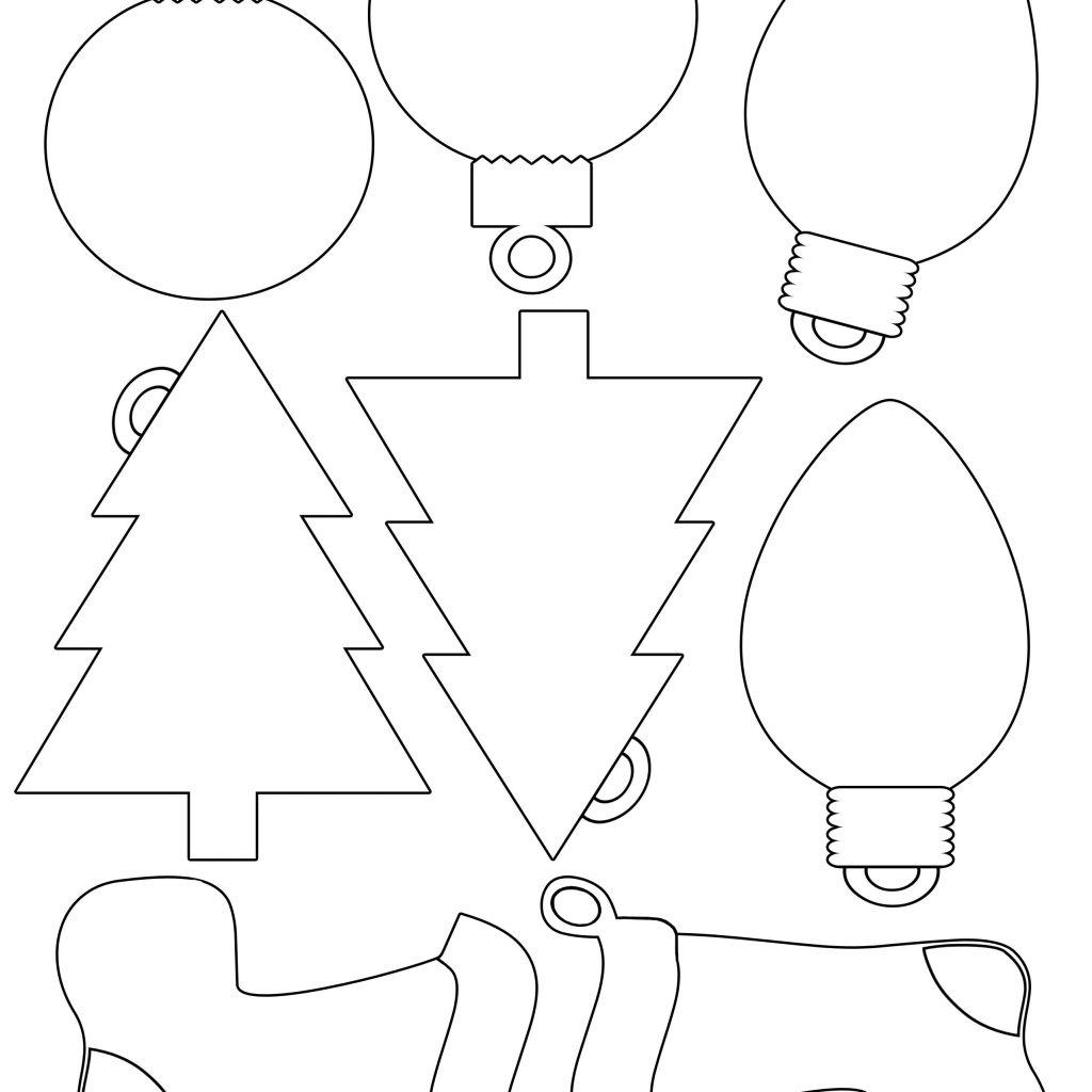 Christmas Coloring Gift Tags With Printable Envelope For Shapes