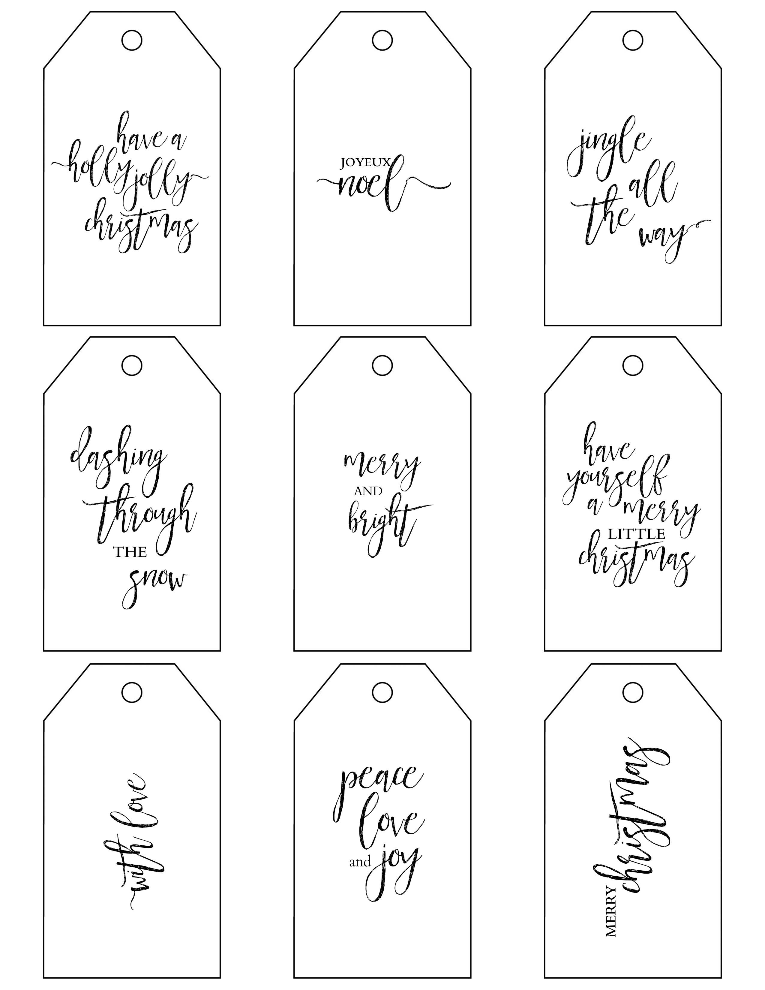 Christmas Coloring Gift Tags With Printable Make Holiday Wrapping Simple